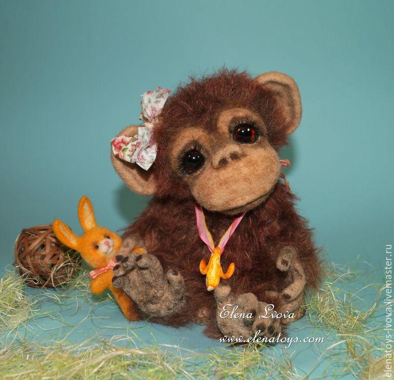 Мишки Тедди ручной работы. Ярмарка Мастеров - ручная работа. Купить Шимпанзе Лима. Handmade. Коричневый, коллекционные игрушки