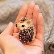 handmade. Livemaster - original item Felted hedgehog brooch. Handmade.