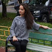 """Одежда ручной работы. Ярмарка Мастеров - ручная работа Свитер """" Шишки,косы,блеск ...."""". Handmade."""