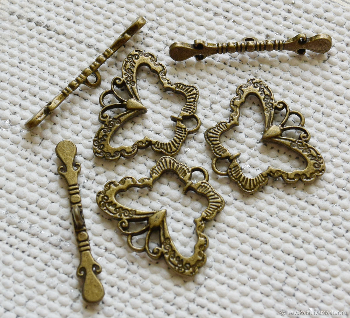 Togla clasps for jewelry Butterfly color antique bronze