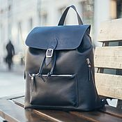 handmade. Livemaster - original item Women`s leather backpack