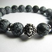 Украшения handmade. Livemaster - original item Bracelet with obsidian,