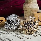 Украшения handmade. Livemaster - original item Ring skull dragon. A man`s skull ring. bronze silver.. Handmade.