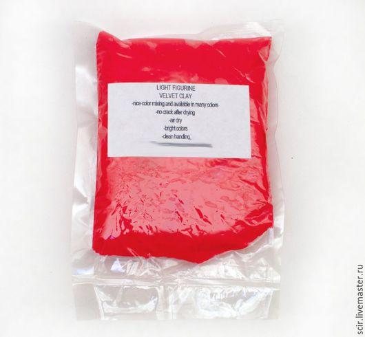 Куклы и игрушки ручной работы. Ярмарка Мастеров - ручная работа. Купить Бархатный пластик 50 грамм красный (бархатная глина, velvet clay). Handmade.