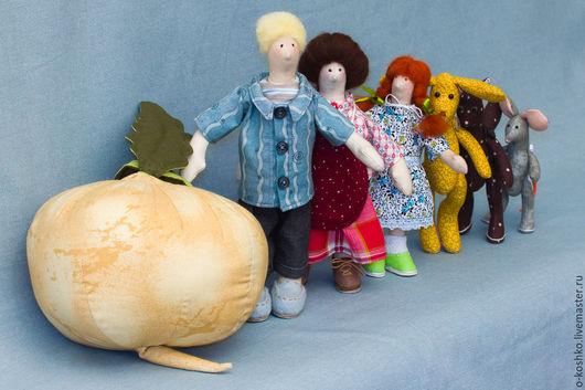 """Сказочные персонажи ручной работы. Ярмарка Мастеров - ручная работа. Купить Игровой набор """"Репка"""". Handmade. Комбинированный, кукла текстильная"""