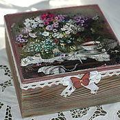 Для дома и интерьера handmade. Livemaster - original item Box Summer bouquet of flowers. Handmade.