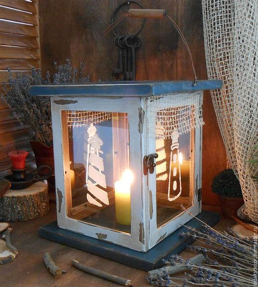 Старый свечной фонарь. Средиземноморский стиль. Подсвечники ручной работы. `LedaksDecor`.
