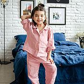 Пижамы ручной работы. Ярмарка Мастеров - ручная работа Пижама из умягченного 100% льна с эффектом мятости. Энзимная стирка. Handmade.