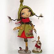 Куклы и игрушки ручной работы. Ярмарка Мастеров - ручная работа В зимний день. Коллекционная кукла. Handmade.