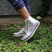 Обувь ручной работы. Ярмарка Мастеров - ручная работа Кеды из натуральной кожи. Handmade.