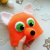 Работы для детей, handmade. Livemaster - original item Fox - hat knitted. Handmade.