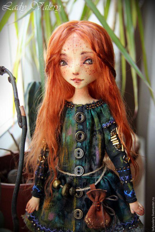 Коллекционные куклы ручной работы. Ярмарка Мастеров - ручная работа. Купить Данка. Текстильная кукла. Handmade. Рыжий, рыжая кукла