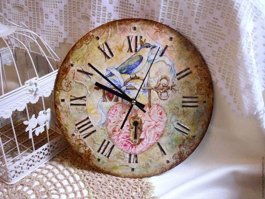 Часы для дома ручной работы. Ярмарка Мастеров - ручная работа. Купить Часы декупаж  настенные.Часы ручной работы.. Handmade.