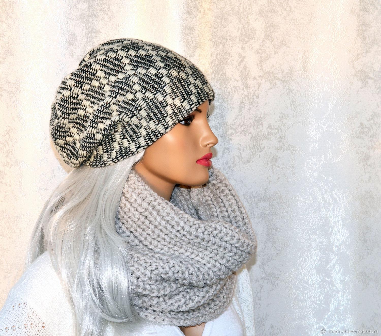 Stylish winter hat double women's ' Elina', Caps, Moscow,  Фото №1