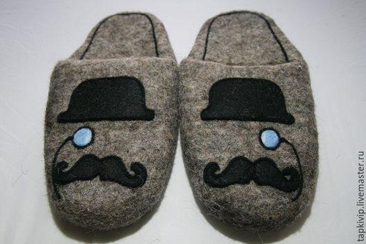 Обувь ручной работы. Ярмарка Мастеров - ручная работа. Купить Валяные тапочки. Handmade. Тапочки котики, коты ручной работы