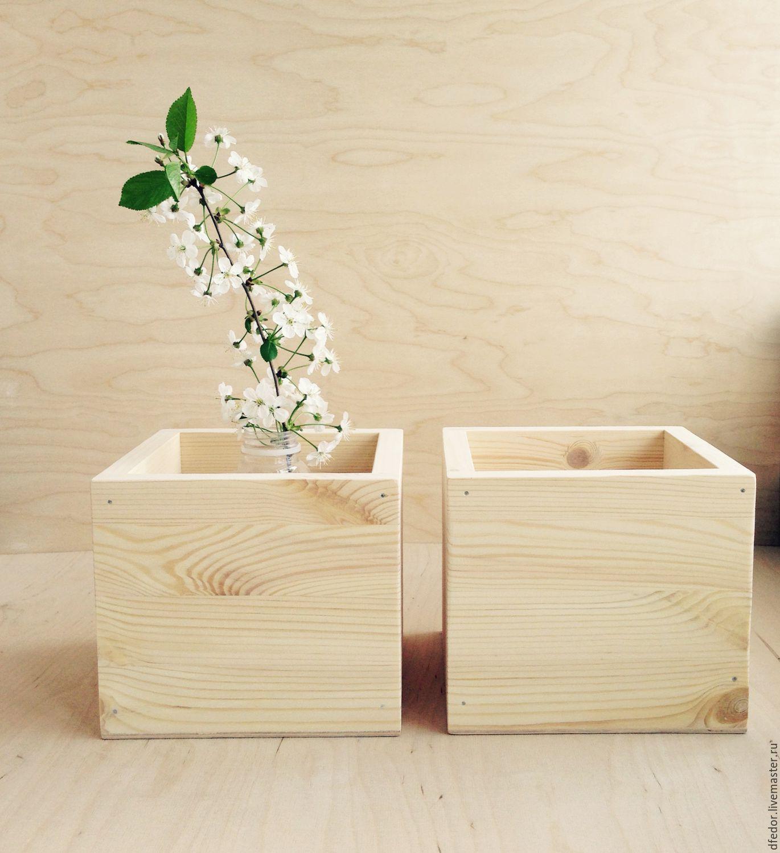 Купить деревянные кашпо для цветов