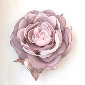 handmade. Livemaster - original item Rose flower brooch