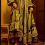 Одежда ручной работы. Ярмарка Мастеров - ручная работа Платье зелёное широкое. Handmade.