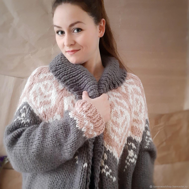 Кардиган крупной вязки, пальто вязаное женское, оверсайз кардиган, Кардиганы, Москва,  Фото №1