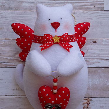 Кот Тильда белоСнежный Ангел