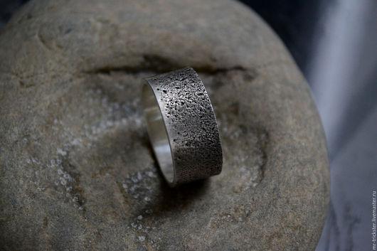 Украшения для мужчин, ручной работы. Ярмарка Мастеров - ручная работа. Купить Sabulum - кольцо из серебра с отпечатком песка. Handmade.