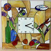 """Для дома и интерьера ручной работы. Ярмарка Мастеров - ручная работа Часы """"Акварель""""   тиффани, фьюзинг. Handmade."""