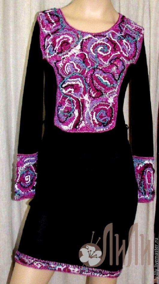 """Платья ручной работы. Ярмарка Мастеров - ручная работа. Купить Платье  """"Фриформ"""". Handmade. Разноцветный, Платье нарядное, теплое платье"""