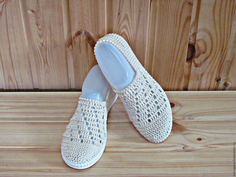 Вязанная обувь на подошве для улицы
