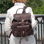 Сумки и аксессуары handmade. Livemaster - original item Backpack leather womens brown Sandersi Mod P53-722. Handmade.