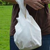 """Классическая сумка ручной работы. Ярмарка Мастеров - ручная работа Сумочка """"Белый хлопок"""" двусторонняя. Handmade."""