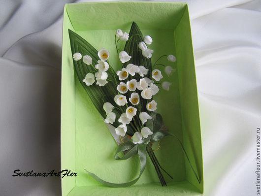 """Цветы ручной работы. Ярмарка Мастеров - ручная работа. Купить Бутоньерка """"Ландыши"""". Handmade. Белый, ландыши, цветы, цветы из шелка"""