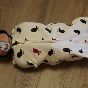 Товары для малышей ручной работы. Ярмарка Мастеров - ручная работа Одежда: пеленка-кокон. Handmade.