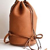 Сумки и аксессуары handmade. Livemaster - original item Handmade backpack, thick soft leather. art MARIA. Handmade.