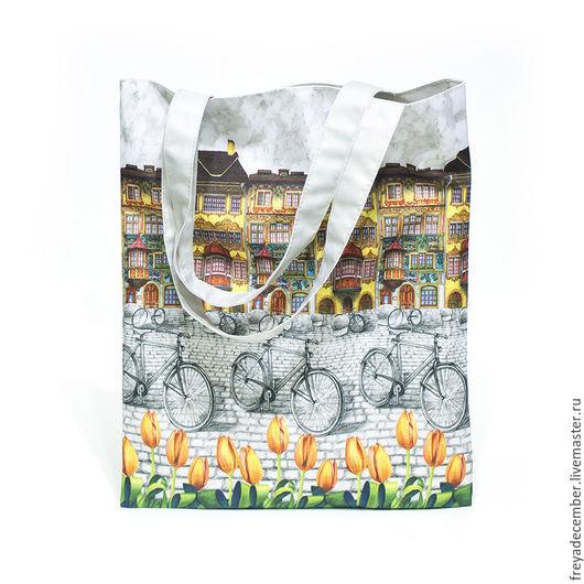 """Женские сумки ручной работы. Ярмарка Мастеров - ручная работа. Купить Сумка из авторского текстиля """"Амстердам"""". Handmade. Сумка, амстердам"""