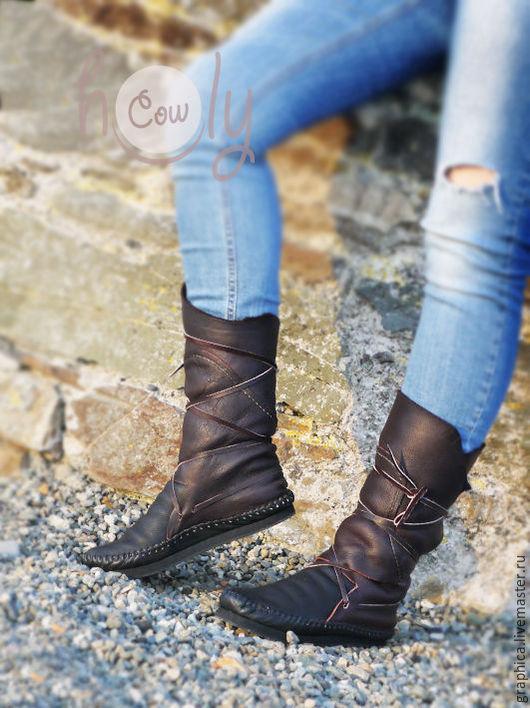 """Обувь ручной работы. Ярмарка Мастеров - ручная работа. Купить Кожаные мокасины """"Black & Brown"""". Handmade. Коричневый"""