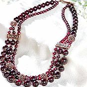 Украшения handmade. Livemaster - original item Beads of pomegranate