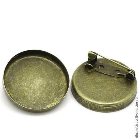 Для украшений ручной работы. Ярмарка Мастеров - ручная работа. Купить 24,5 см Брошь-основа.Цвет античная бронза.. Handmade.