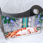 Для дома и интерьера handmade. Livemaster - original item Box to store the Cat on the window. Handmade.