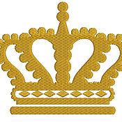 Машинная вышивка короны скачать