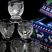 Посуда handmade. Livemaster - original item Fairy-tale forest of the stack of brandy / vodka Christmas gift 2018. Handmade.