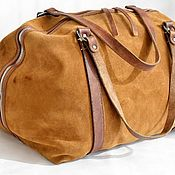 Сумки и аксессуары handmade. Livemaster - original item Suede Bag MAX. Art London - M.Travel, Large. Handmade.