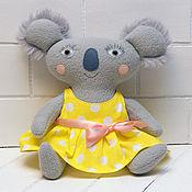 Куклы и игрушки handmade. Livemaster - original item Soft toy Koala baby girl`s dress. Handmade.