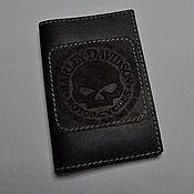 Кошельки ручной работы. Ярмарка Мастеров - ручная работа Обложка на авто-мото документы Harley Davidson Willie G Skull. Handmade.