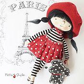 Куклы и игрушки handmade. Livemaster - original item Doll textil handmade interior Paris. Handmade.