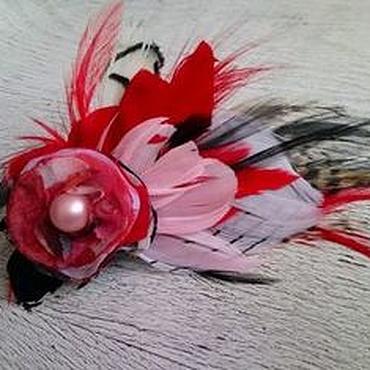 Украшения ручной работы. Ярмарка Мастеров - ручная работа Заколка-брошь Розовый Фламинго. Handmade.