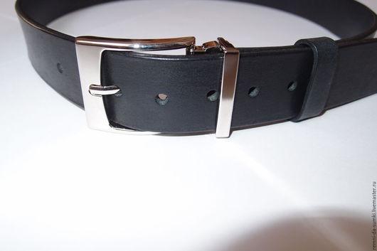 Пояса, ремни ручной работы. Ярмарка Мастеров - ручная работа. Купить Ремень Classic Black 12-09. Handmade. Ремень