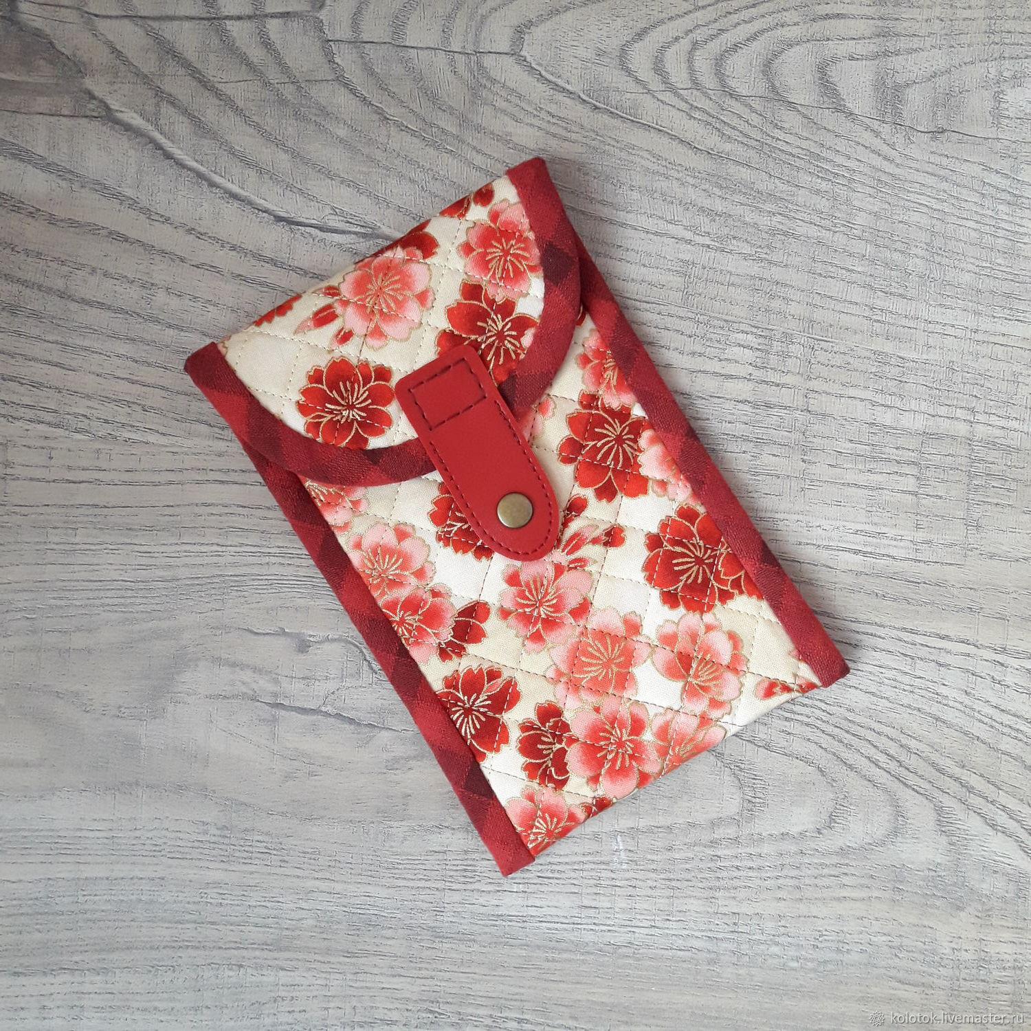 Phone case made of 'Sakura Flowers' fabric', Case, Moscow,  Фото №1