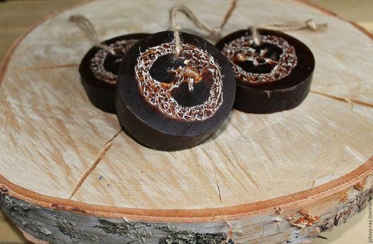 """Мыло-мочалка ручной работы. Ярмарка Мастеров - ручная работа. Купить Мыло-мочалка с люффой и шоколадом """"Шоколадная люффа"""".. Handmade."""