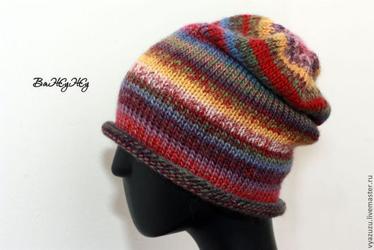 """Шапки ручной работы. Ярмарка Мастеров - ручная работа. Купить Шапка """"Лето"""". Handmade. Вязаная шапка, разноцветная шапка"""