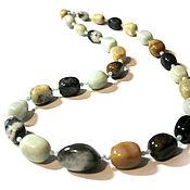 Работы для детей, handmade. Livemaster - original item Beads made of natural stones amazonite Amazon. Handmade.
